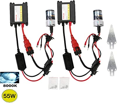 H7 XENON HID CONVERSION KIT 6000K WITH BALLASTS ICE WHITE EFFECT BRAND NEW UK