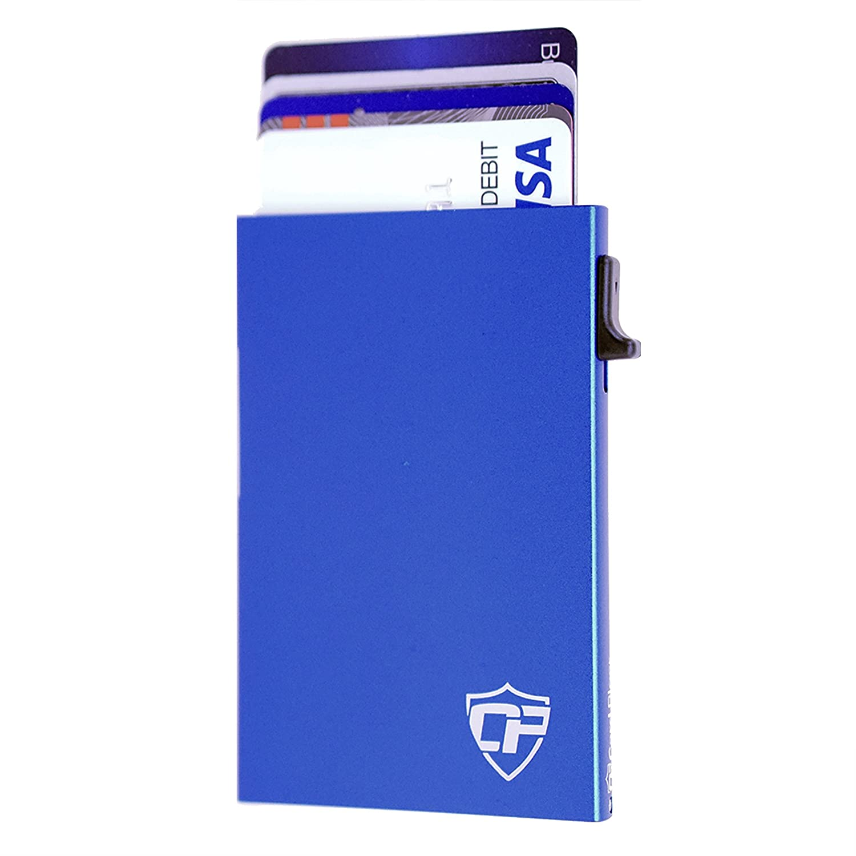 Best Minimalist Wallet Card Blocr Metal Credit Card Holder RFID Blocking Slim Credit Card Wallet for Men or Women