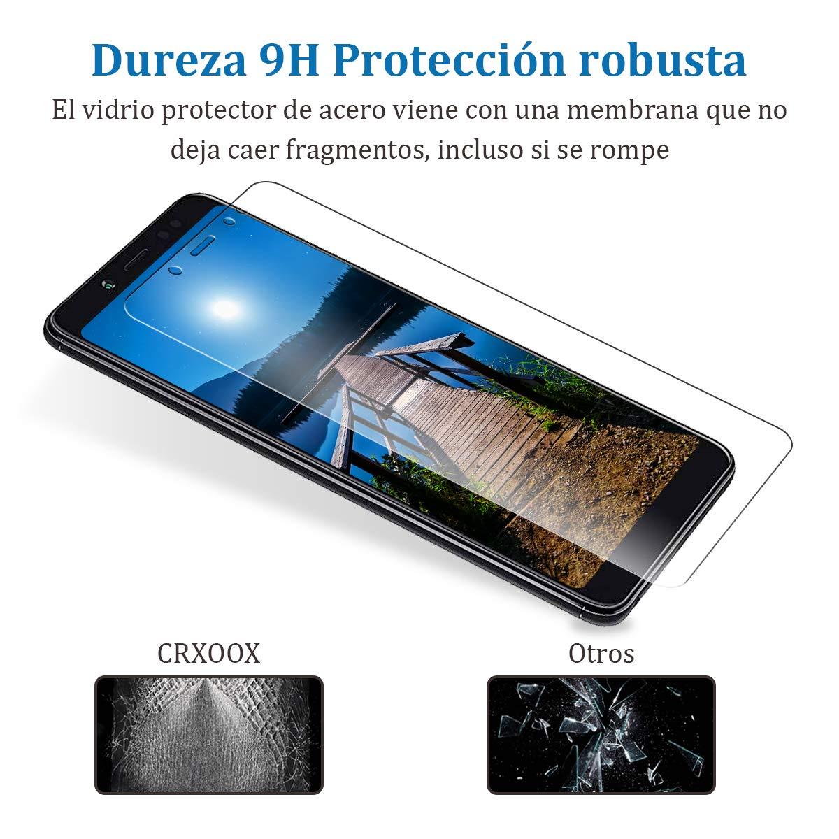 CRXOOX 3-Pack Cristal Vidrio Templado para Xiaomi Redmi Note 5, Transparente Protector de Pantalla, Explosiones Resistente, Sin Burbujas, Anti Dactilares, ...