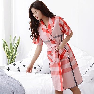 Peignoirs ZLR Printemps Été Lady Sommeil Robe Couple Pur Coton Section Mince Pyjamas Hommes Et Femmes Accueil Vêtements