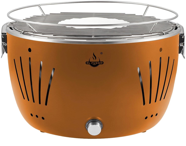 Rustler Holzkohlegrill Test : El fuego rauchfreier holzkohlegrill tulsa orange  x