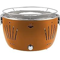 El Fuego Tulsa AY5252 Grill orange Edelstahl Stahl Kunststoff klein BBQ Camping Balkon Picknick ✔ rund ✔ tragbar rauchfrei ✔ Grillen mit Holzkohle ✔ für den Tisch