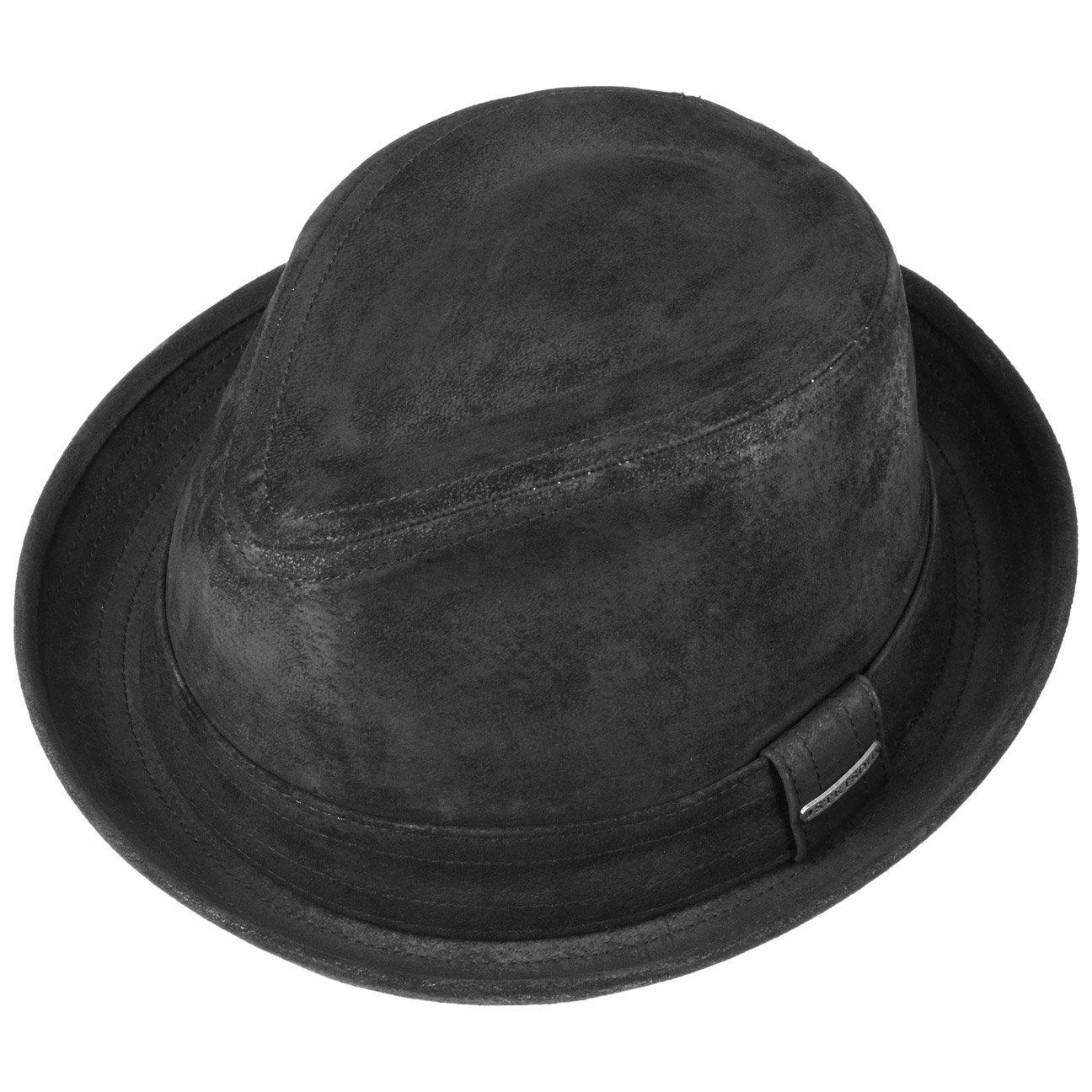 08e3b1c903880 Stetson Chapeau Radcliff Player Homme | en Cuir Trilby Fedora avec  Doublure, Bandeau Printemps-ete: Amazon.fr: Vêtements et accessoires