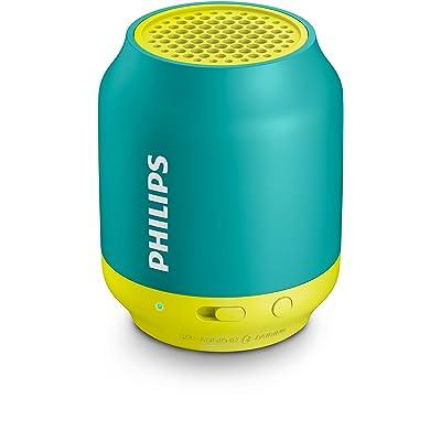 Philips BT25A - Mini Altavoz Bluetooth inalámbrico (Potente y Portátil con Cable USB y Entrada de Audio) Color Azul