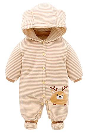 bc7e0ebb38 ... new release 7b446 32cfc Happy Cherry Baby Boy Rompers Long Sleeve  Outfit Newborn Pajamas Infant Sleepwear ...