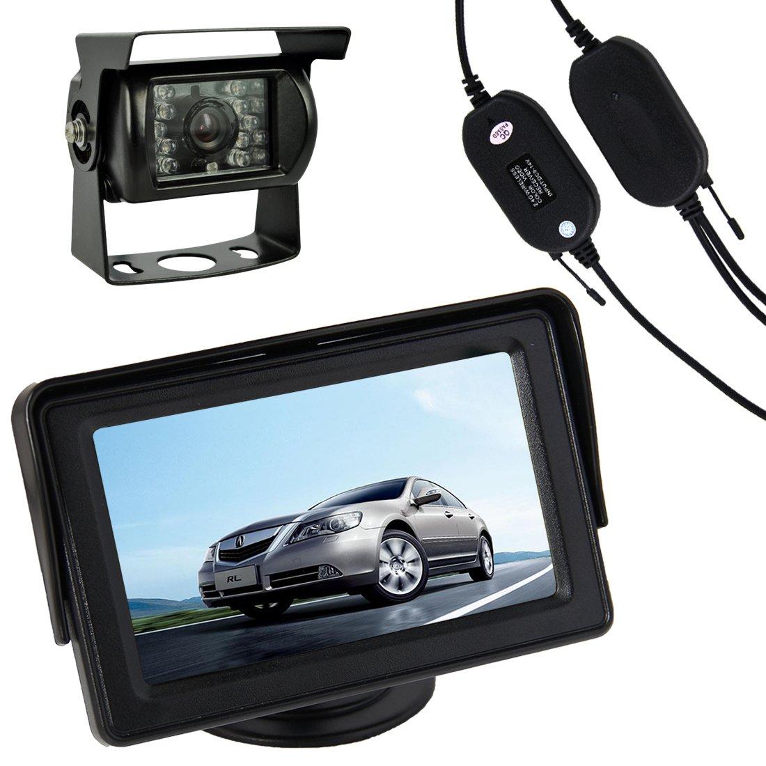 Buyee Auto Farb R/ückfahrkamera 18 IR Leds 120/° f/ür R/ückfahrsystem TFT Monitor