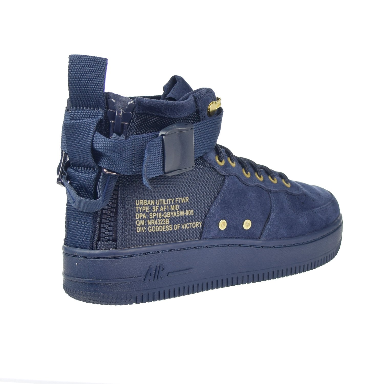 Nike SF AF1 Air Force MID Big Kids Shoes Obsidian Blue/Black aj0424-400 (3.5 M US) by Nike (Image #3)