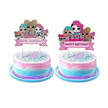 Hizoop LOL Cake Toppers d\u0027anniversaire, Joyeux Anniversaire