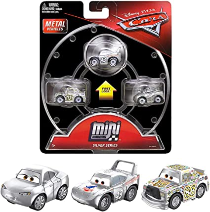 Amazon Com Silver Series Mini Racers Diecast 3 Pack Cars With