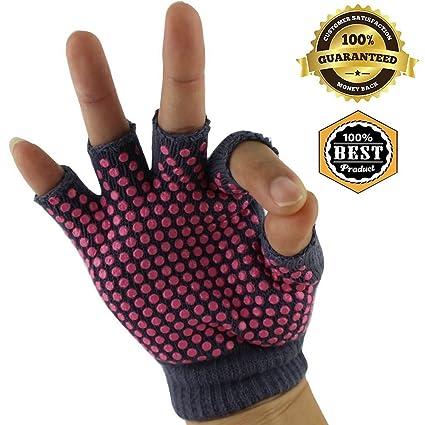 Amazon.com : MeanHoo 1 Pair Yoga Gloves Non slip pairs for ...