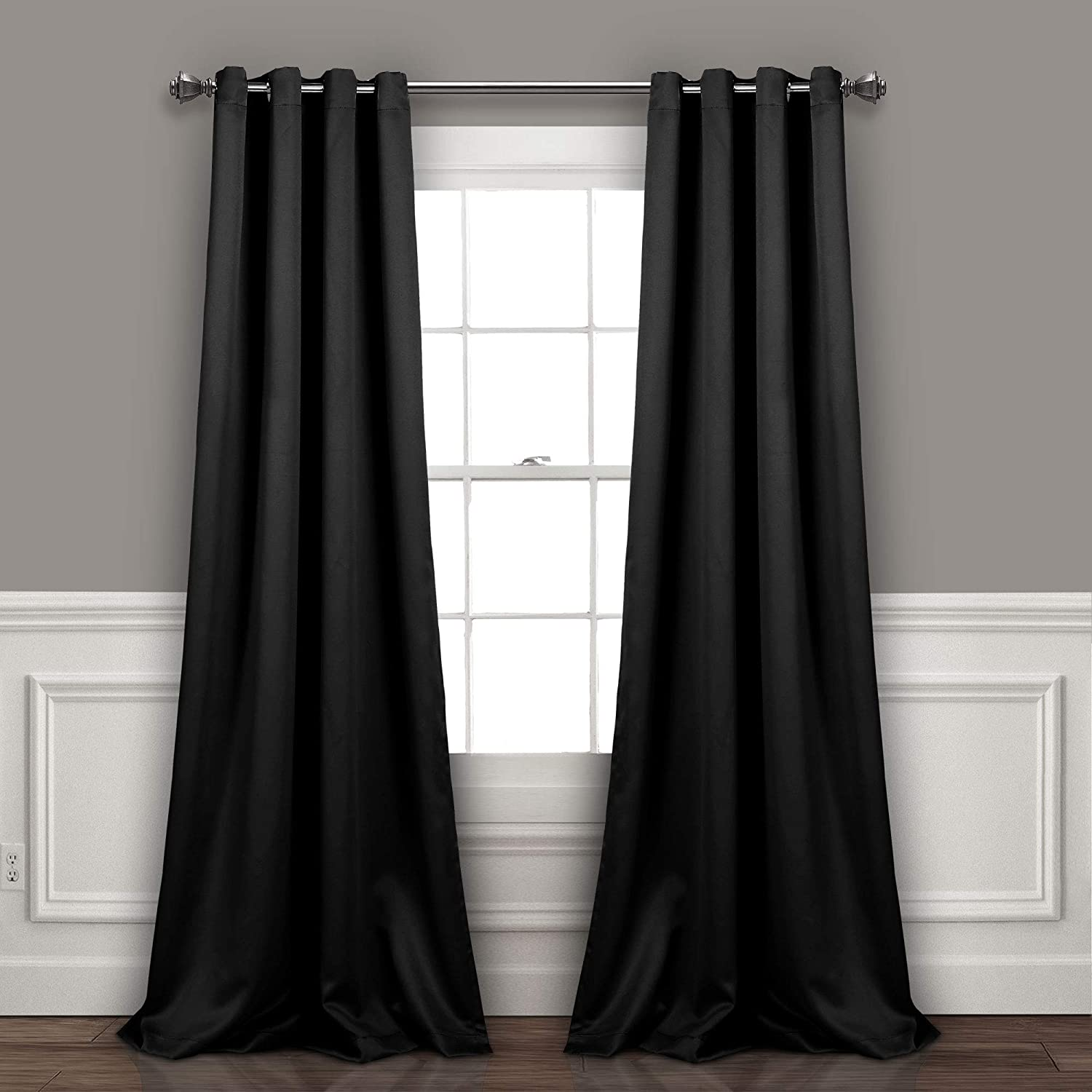 Lush Decor Curtains-Grommet Panel with Insulated Blackout Lining, 84