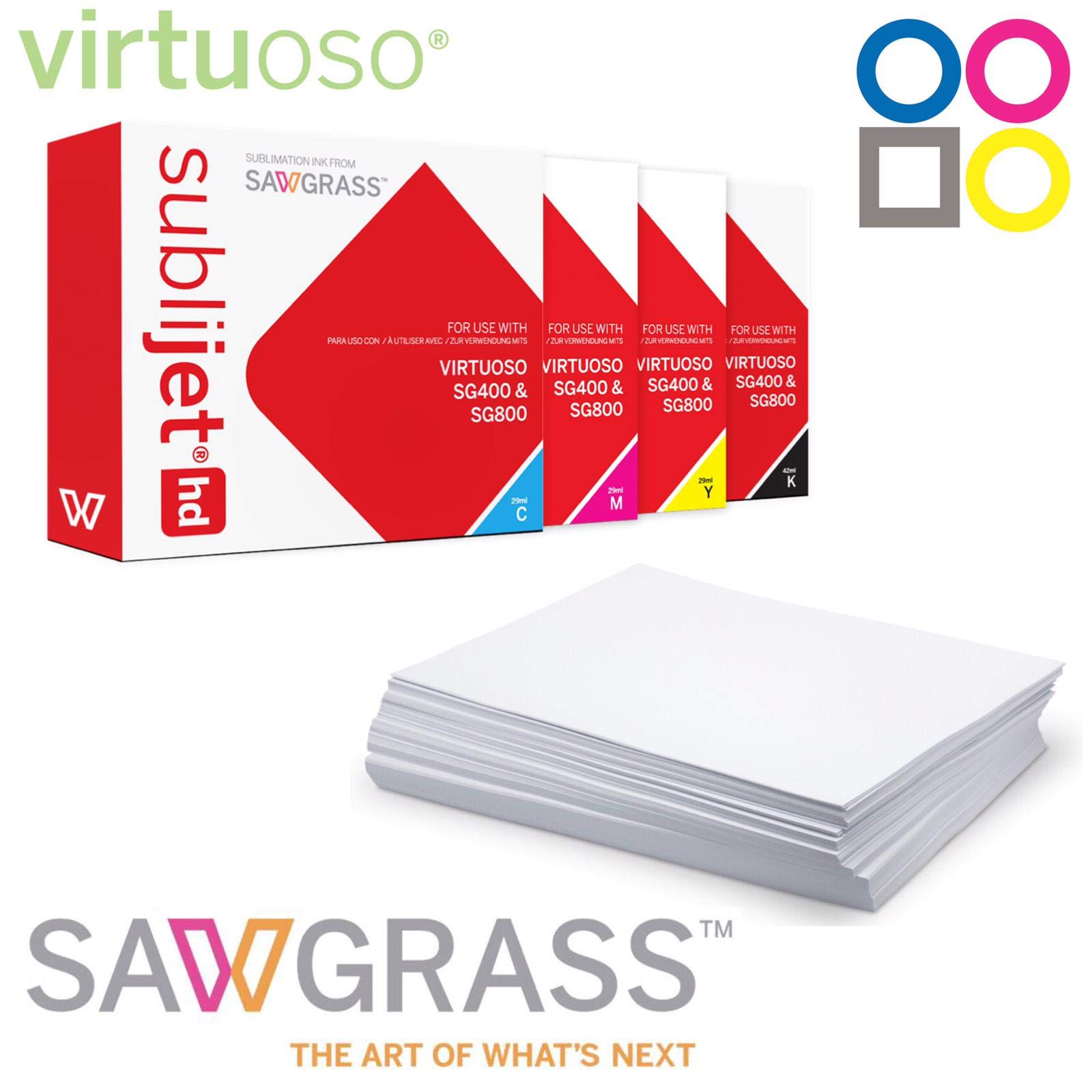 Sawgrass Virtuoso SG400/SG800 Chromablast Kit CMYK