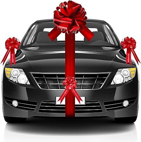 WEDDING CAR RIBBON /& BOW KIT   8M POLY RIBBON  3 X  50MM PULL BOW   VARIOUS COL