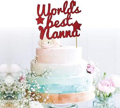 World/'s Best Grandma Birthday Cake Topper