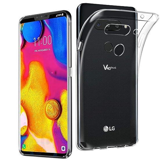the best attitude aaa74 f2423 Amazon.com: AVIDET LG V40 ThinQ/LG V40 Case, Crystal Clear Soft Thin ...
