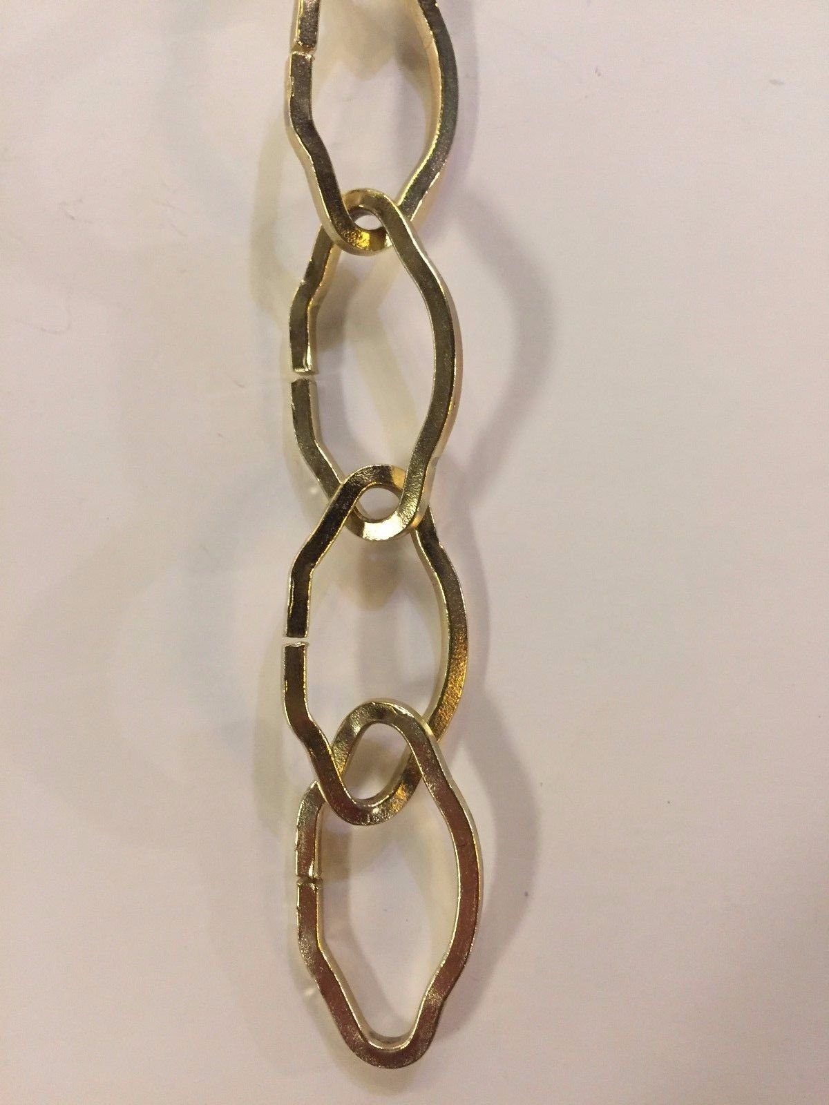 Brass Gothic Chain Chandelier Chain Link Medium Duty Gold Color by Bethesda Design, LLC