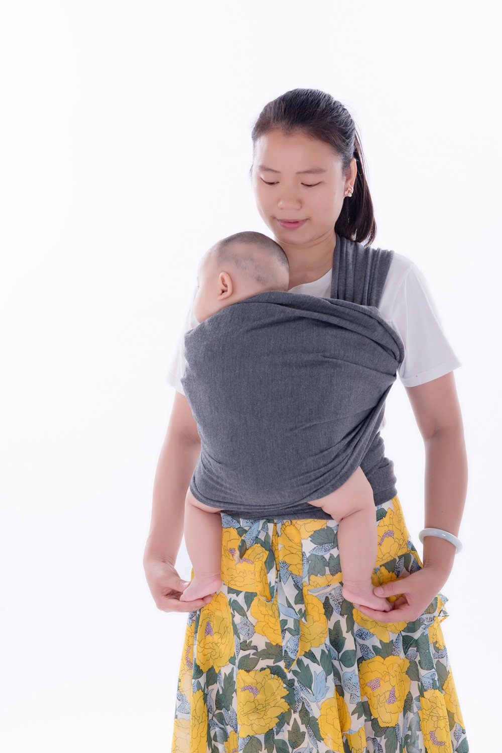 Emwel Baby Wrap Carrier Adjustable Breastfeeding Cover Cotton Sling Baby Carrier for Infants up to 35 lbs/16kg, Soft and Comfortable