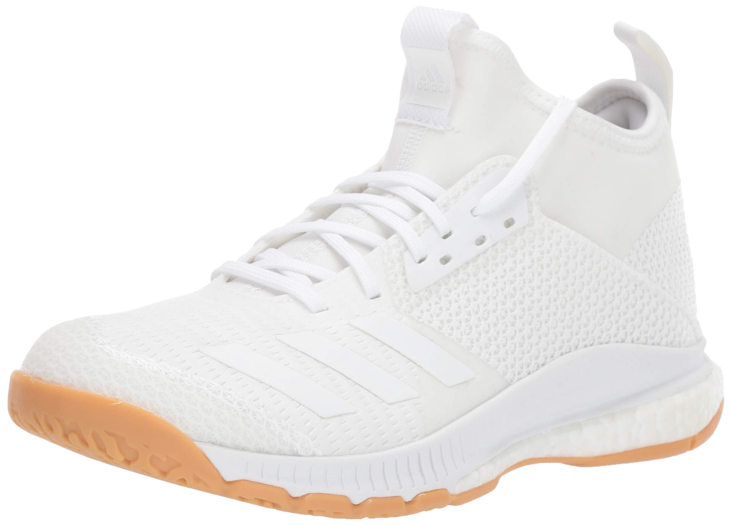 adidas Women's Crazyflight X 3 Mid Volleyball Shoe, White/Gum, 9 M US by adidas