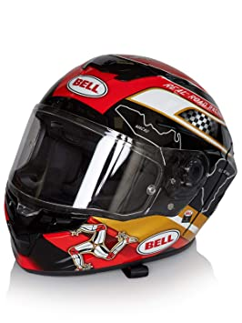 Bell 7092104 Star Mips Isle Of Man Casco, Negro/Gold, ...
