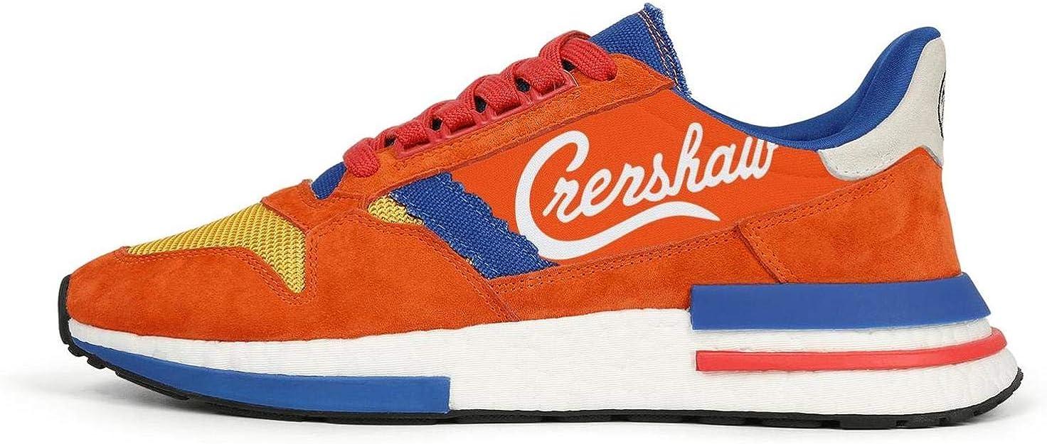 Zapatillas de Running para Mujer, Ligeras, Color Naranja y Azul ...