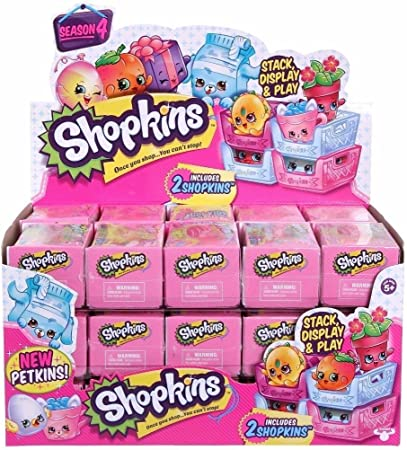 SHOPKINS SEASON 3 ~ FULL CASE OF 30 BLIND BASKETS ~ IN DISPLAY BOX!