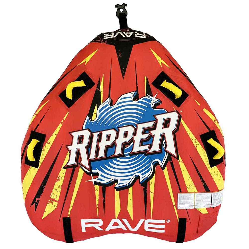RAVE Sports 02918-RV-SMU Ripper 2 Rider Nylon Inflatable Towable Float, Red by RAVE Sports