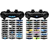 eXtremeRate 60 Pcs Light Bar Stickers Aufkleber Decals für Dualshock 4 Sony Playstation 4,PS4 Slim,PS4 Pro Controller