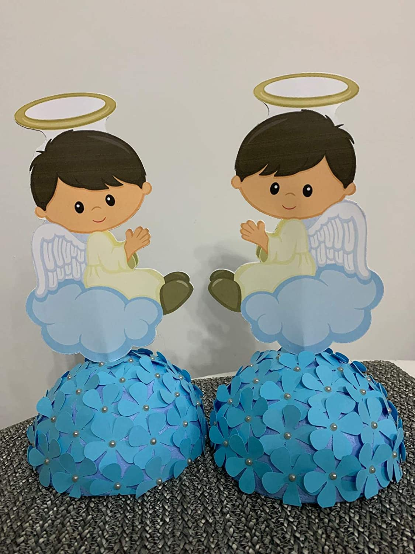Centro de mesa para bautizo de niño.: Amazon.es: Handmade