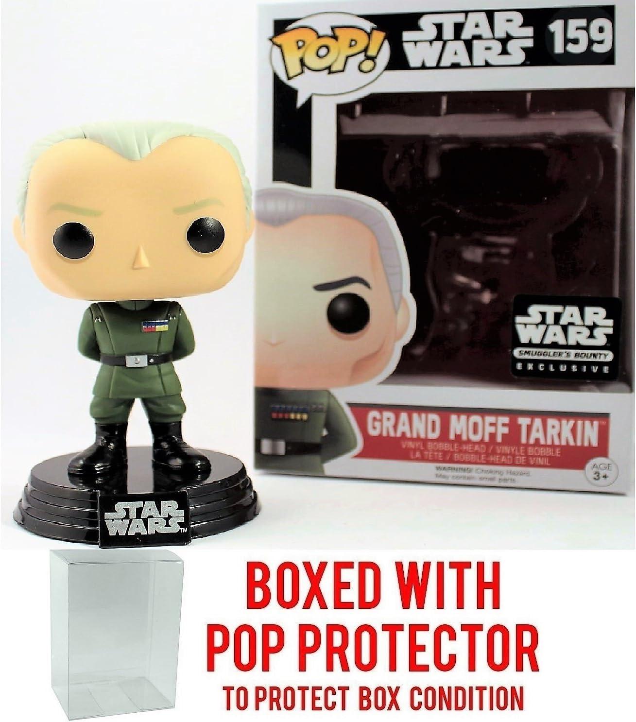 Funko Pop! Star Wars Smuggler's Bounty Exclusive Death Star Grand Moff Tarkin #159 Vinyl Figure (Bundled with Pop BOX PROTECTOR CASE)