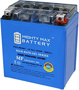 Mighty Max Battery 12V 6AH 100CCA Gel Battery for Kawasaki 250 EX250 Ninja 1995-2007 Brand Product