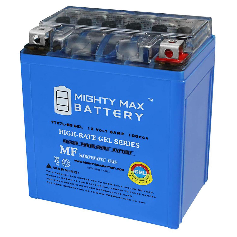 Mighty Max Battery 12v 6ah 100cca Gel Battery For Kawasaki 250 Ex250 Ninja 1995 2007 Brand Product