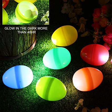 Amazon Com Ibasetoy Glow In The Dark Easter Eggs For Easter Games