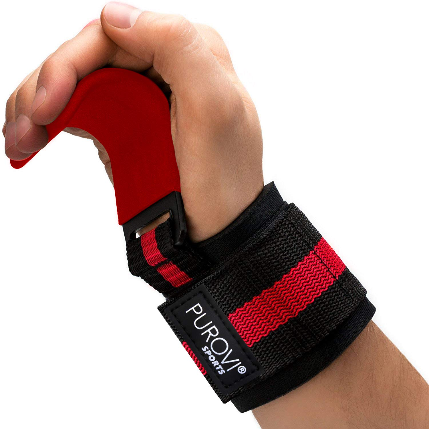 Vettler Sports® Weight Lifting Straps | Crossfit Wrist Wraps | Perfect for Bodybuilding Training Workout Crossfit | Hook and Loop Adjustable Closure VS-ZH1