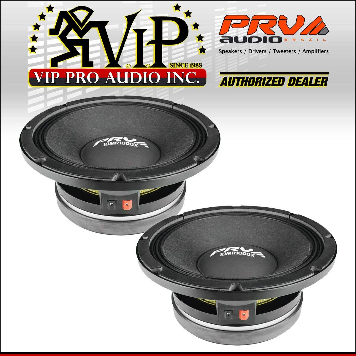 2X PRV Audio 10MR1000X 10'' Sub Woofer Pro Audio Bass Speaker 2000W 8 Ohm