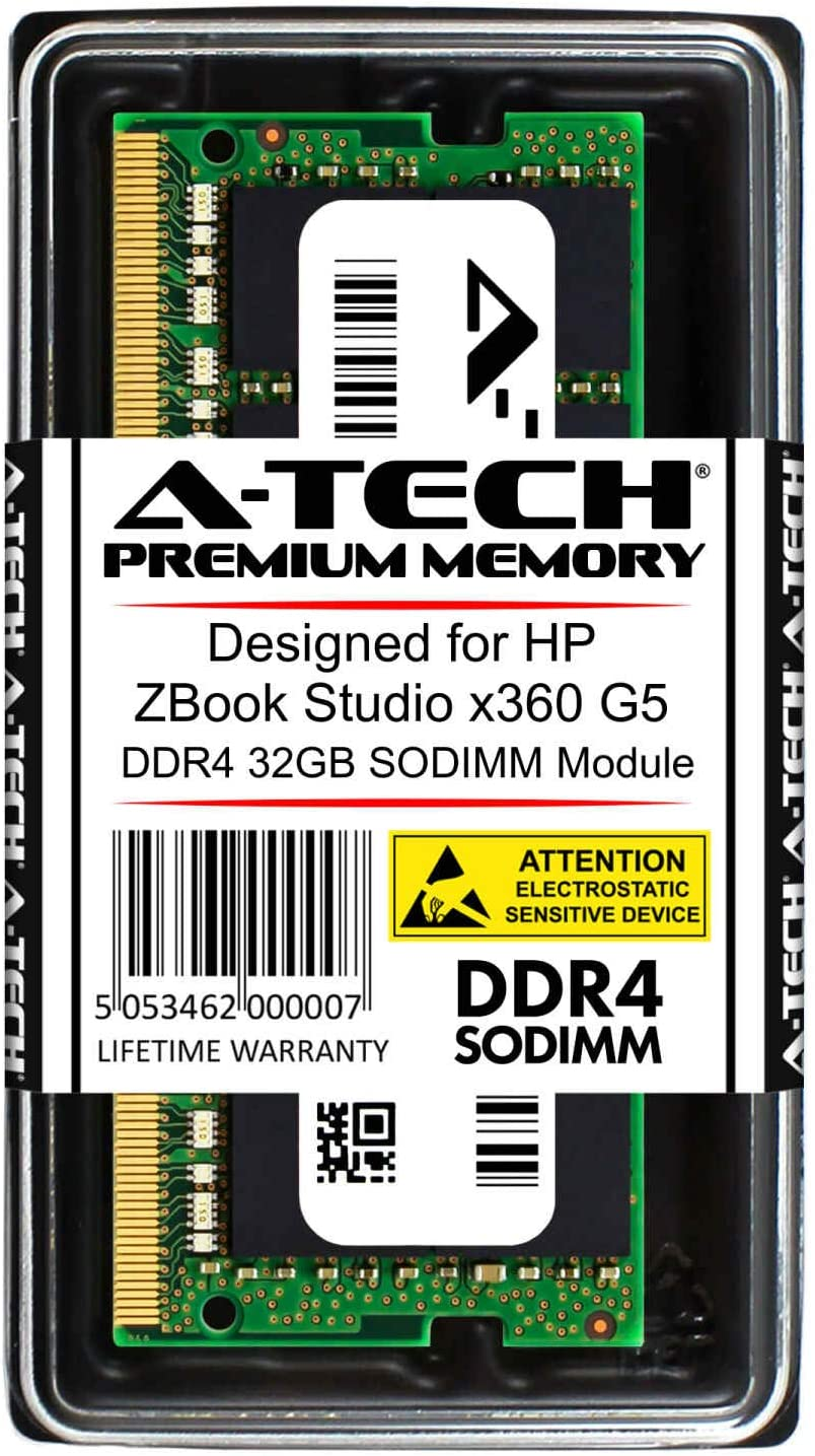 A-Tech 32GB RAM for HP ZBook Studio x360 G5/Gen5 Mobile Workstation Laptop   DDR4 2666 SODIMM PC4-21300 1.2V 260-Pin Memory Upgrade Module