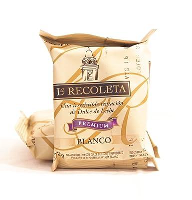 Alfajores rellenos de dulce de leche y Bañados en Chocolate Blanco. LA RECOLETA Premium. Caja de 6 Alfajores.: Amazon.es: Alimentación y bebidas