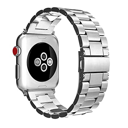 Stainless Steel Band Strap Smartwatch Classic Metal Wristband Bracelet Compatible with 44mm Apple Watch Series 4, 42mm Apple Watch Series 3/2/1 ...