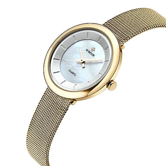 wwoor mujeres relojes quartz-watch señoras reloj mujer cupones para relojes mujer Classic Retro inoxidable