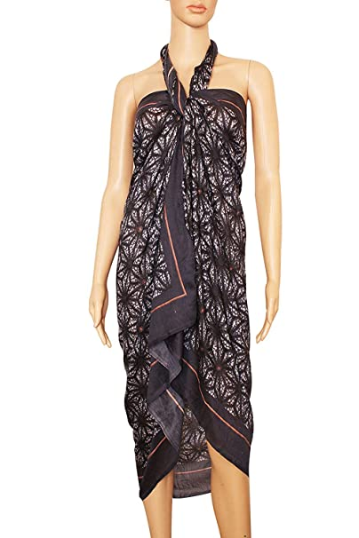 bea937d496 INDIAN FASHION GURU Women's Poly Cotton Beach Wear Sarong, Pareo, Wrap  Swimsuit Cover Up (BO-SOR-01-0007, Multicolour, Free Size): Amazon.in:  Clothing & ...