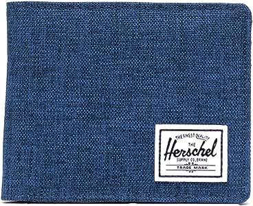 "Herschel Men's Roy RFID Bi-Fold Wallet, Eclipse Crosshatch/Black, Wallet3.5(H) x 4.4""(W) x 0.5""(D)"