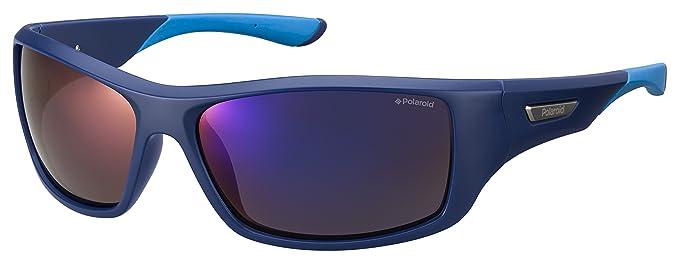 Polaroid PLD 7013/S 5X ZX9 gafas de sol, Azul (Bluette Azure/Grey Grey Speckled Blue Pz), 63 para Hombre