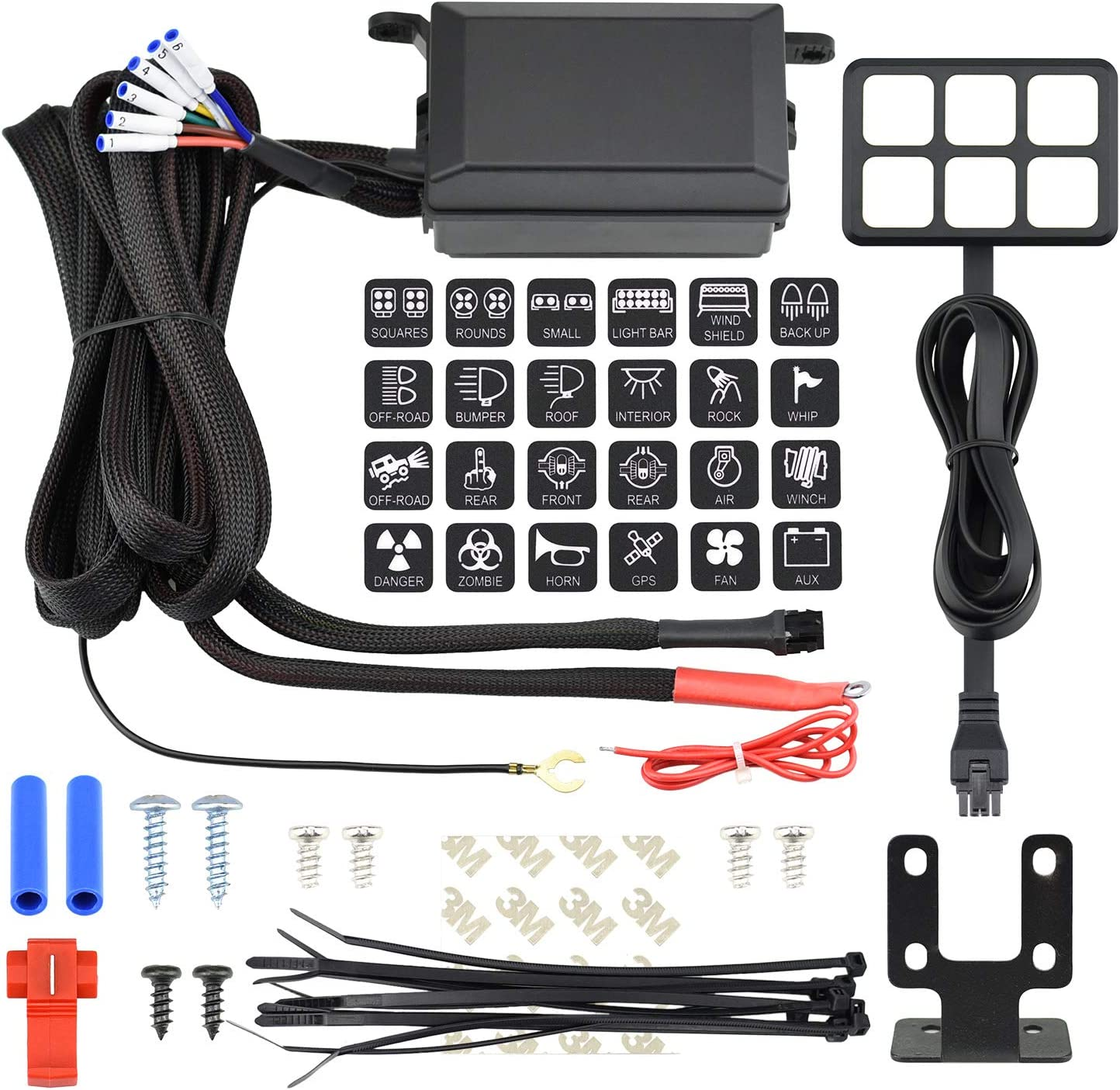 Amazon.com: Cllena Universal 6 Gang ON/Off Switch Panel with Relay System  Fuse Box Wiring Harness Assembly Kit for Car Auto Truck Camper Rv ATV UTV  Jeep Off-Road Marine Boat Accessories: AutomotiveAmazon.com