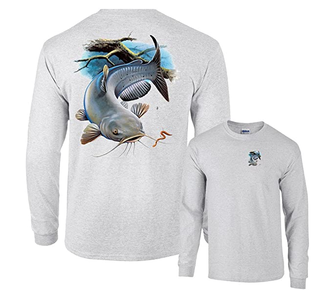 b78c2a54 Amazon.com: Fair Game Channel Catfish Fishing Long Sleeve T-Shirt: Clothing