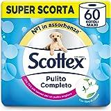 Scottex Pulito Completo Carta Igienica, Confezione da 60 Rotoli Maxi