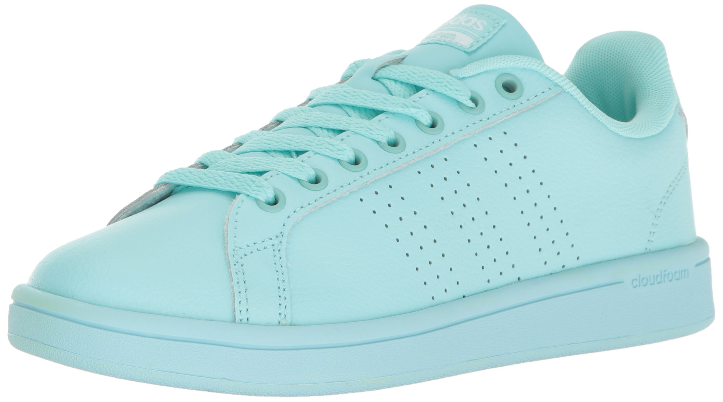 adidas Women's Cloudfoam Advantage Clean Fashion Sneaker Clear Aqua/Clear Aqua/Running White (7 M US)