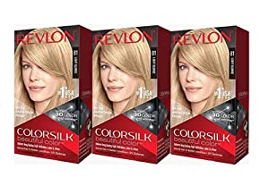 Revlon Colorsilk Beautiful Color, Light Blonde, 3 Count