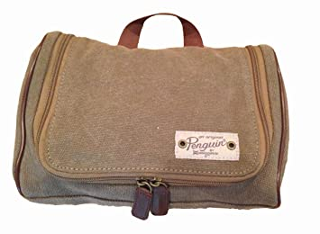 Image Unavailable. Image not available for. Color  NWT  50 PENGUIN  Munsingwear Men s Hanging Toiletry Travel Shave Kit Case Bag Olive Canvas 04c7e7746fb91