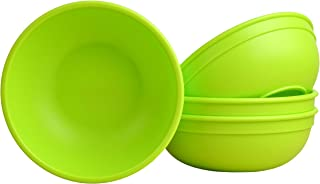 """product image for Re-Play Made in USA Recycled Products, Set of 4 (5.75"""" Heavy Duty Dining Bowl, Lime) Great for Outdoor, Camping, Party, Tailgating or Everyday Dining"""