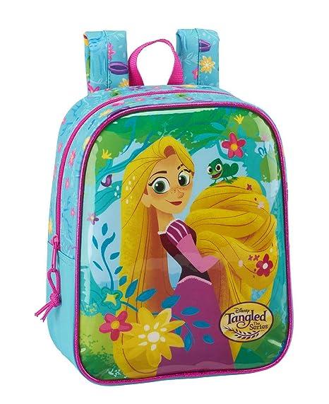 Safta Mochila Rapunzel Disney 27cm Adaptable