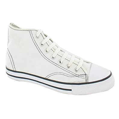 low price incredible prices more photos Spot On Womens/Ladies Canvas Baseball Boots